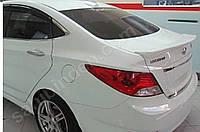 Hyundai Accent Solaris 2011+ гг. Спойлер (под покраску)