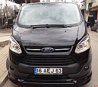 Ford Custom 2013+ гг. Передний бампер (накладка, под покраску)