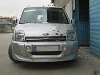 Ford Connect 2002-2006 гг. Полная накладка на бампер (под покраску)