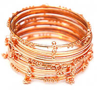 Комплект из 14 браслетов кольцо с подвесками медь