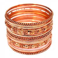 Комплект из 18 браслетов кольцо медь