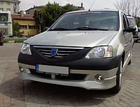Dacia Logan I 2005-2008 гг. Передний бампер (накладка, под покраску)