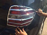 Хром накладки на задние фонари Mercedes ML164