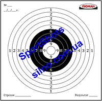 Мишень картонная Люман №1 50 шт/пчк для пневматического оружия
