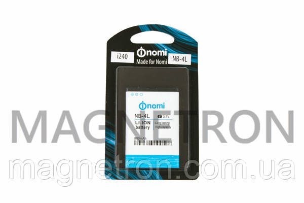 Аккумуляторная батарея NB-4L Li-ion 800mAh для телефона i240 Nomi, фото 2