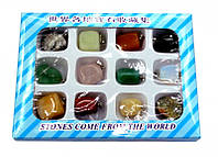 Кулон из натуральных камней 12 штук набор