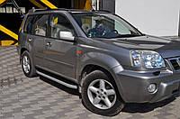 Nissan X-trail T31 2007-2014 гг. Боковые площадки Fullmond (2 шт, алюм.)