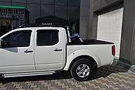 Nissan Navara 2006-2015 гг. Боковые площадки X5-тип (2 шт., алюм.)