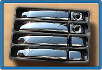Nissan NV400 2010+ гг. Накладки на ручки (4 шт) Хромированный пластик