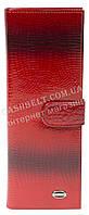 Стильная оригинальная вместительная визитница лак под кожу змеи FUERDANNI art. 1013 красная