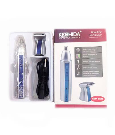 Тример бритва для волосся на обличчі та носі Keshida NZ-208 2 в 1, фото 2