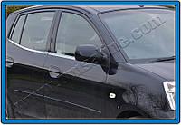 Kia Picanto 2004-2011 гг. Нижние молдинги стекол (4 шт., нерж)