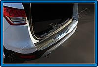 Ford Kuga 2013-2019 гг. Накладка на задний бампер OmsaLine (нерж.)