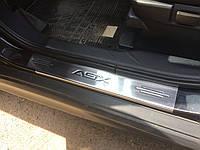 Mitsubishi ASX 2010+/2016+ гг. Накладки на пороги Carmos (4 шт, нерж.)