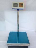 Электронные весы торговые со стойкой, 300 кг, питание от сети, большая платформа