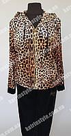 Женский спортивный костюм больших размеров с леопардовым принтом