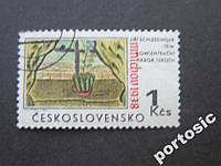 2 марки Чехословакия 1968 живопись графика 2 фото