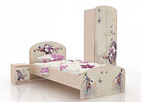 """Кровать подростковая Вальтер """"Бабочки"""" (3 размера)"""