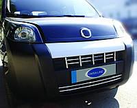 Peugeot Bipper 2008+ гг. Накладка на решетку (15 част, нерж)