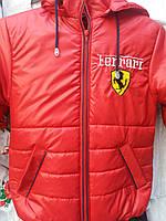 Демисезонная куртка на мальчика красного цвета