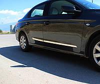 Peugeot 301 2012+ гг. Молдинг дверной (4 шт, нерж)