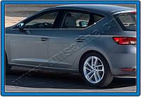 Seat Leon 2013+ гг. Молдинг боковых стекол (5 дверный, 8 шт, нерж)
