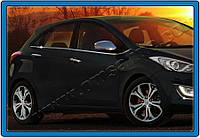 Hyundai I-30 2012+ гг. Молдинг боковых стекол (HB, нерж)