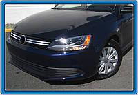 Volkswagen Jetta 2011+ гг. Накладки на решетку (4 шт, нерж)