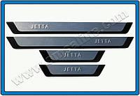 Volkswagen Jetta 2011+ гг. Накладки на пороги Flex-style (4 шт, нерж)