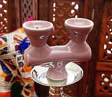 Запасная чашка для кальяна двойная Сиреневая