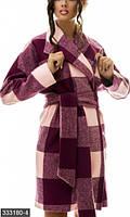 Женское кашемировое пальто клетка