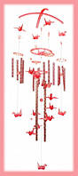"""Поющие ветра """"Пластик"""" 20 трубочек на крестовине Калибри Розовые"""