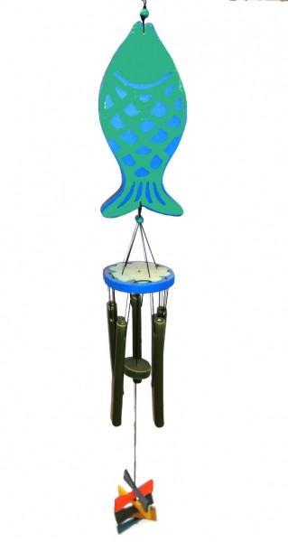Поющие ветра 5 трубочек Зелёный №4