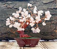 """Дерево """"Счастья"""" с камнями Розовый Кварц"""