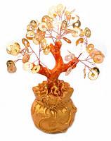 Дерево с золотыми монетами в мешке