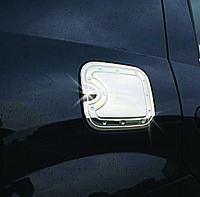 Renault Logan I 2005-2008 гг. Накладка на лючок бензобака (нерж.)