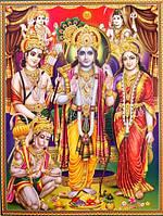 "Постер ""Индийские боги"" Вишну Рам Сита Хануман AAP 029"