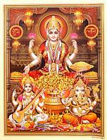"""Постер """"Индийские боги"""" Сарасвати Лакшми Ганеш AAP 048"""