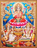 "Постер ""Индийские боги"" Сарасвати Лакшми Ганеш Jothi A-6665"
