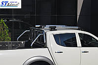 Mitsubishi L200 2007-2015 гг. Рейлинги (с поперечинами)