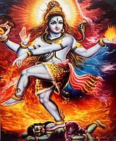 Картина со светодиодами Шива Натарадж №5