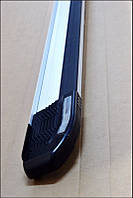 Skoda Yeti 2010+ гг. Боковые площадки Rainbow (2 шт, алюм)