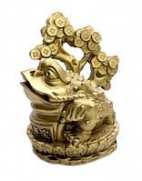 Жаба богатства с денежным деревом под бронзу