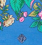 """Платок шерстяной с шелковой бахромой """"Цветомания"""", 89x89 см, фото 3"""