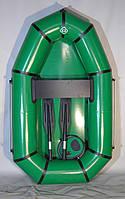 Легкая надувная лодка для рыбалки ПВХ одноместная, d баллона 29см, сиденье, насос, ремкомплект, 1,9х1,2м