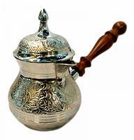 Турка белый метал с крышкой Арт.10401