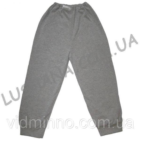 Тёплые штаны на манжете на рост 116-128 см - Начёс