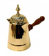 Турка желтый метал с крышкой Арт.10412
