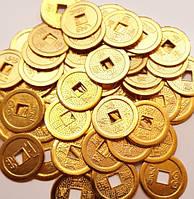 Монета d = 3 см. штучно золотой цвет 10 МОНЕТ