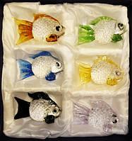 Набор из шести рыбок цветное стекло
